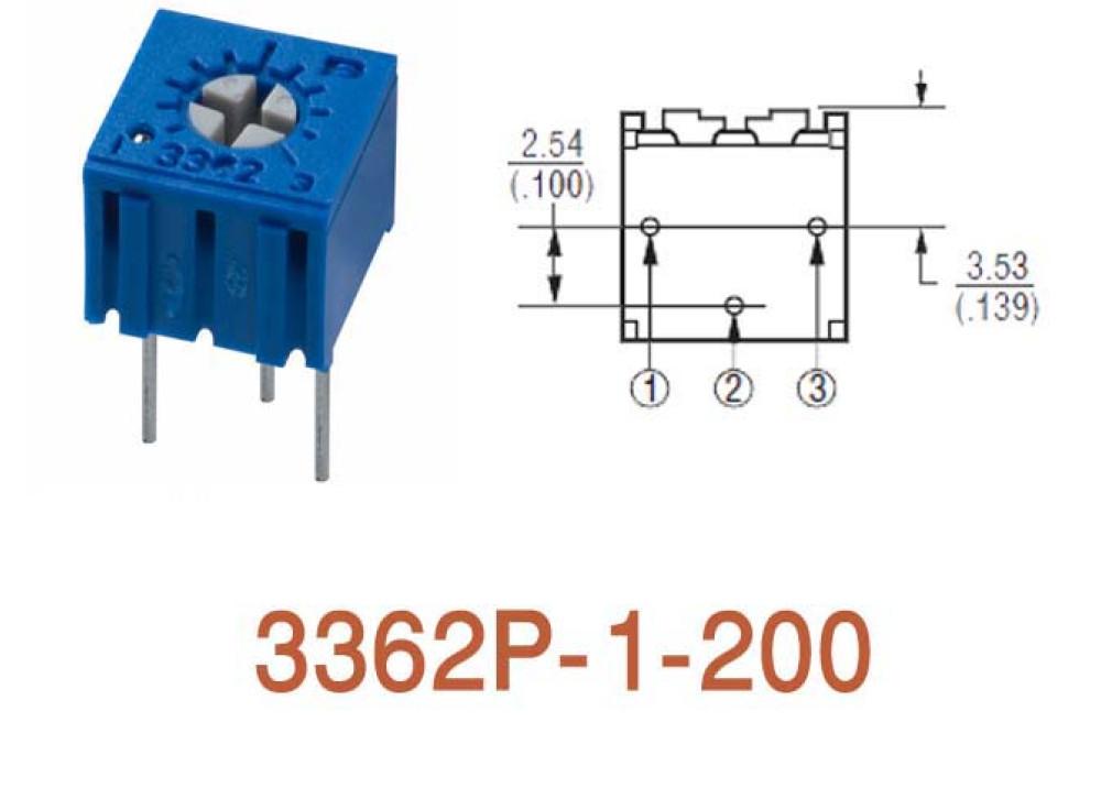 Cermet Trimming Potentiometer 3362P 20R
