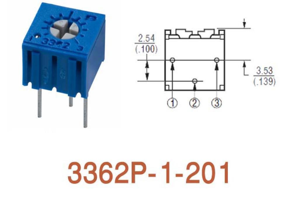 Cermet Trimming Potentiometer 3362P 200R
