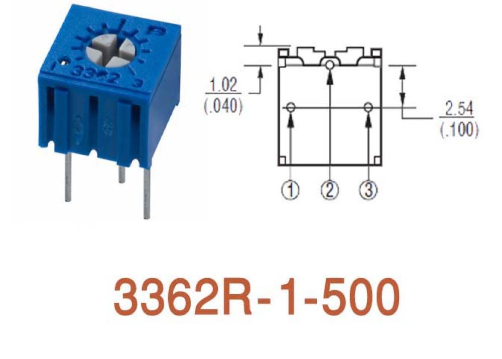 Cermet Trimming Potentiometer 3362R 50R