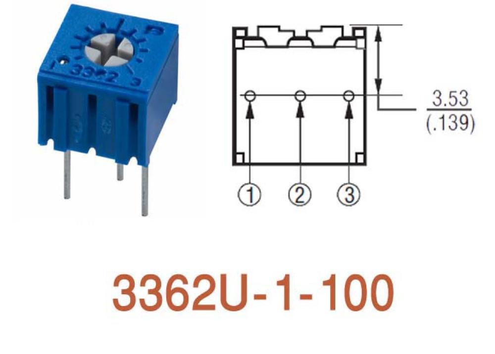 Cermet Trimming Potentiometer 3362U 10R