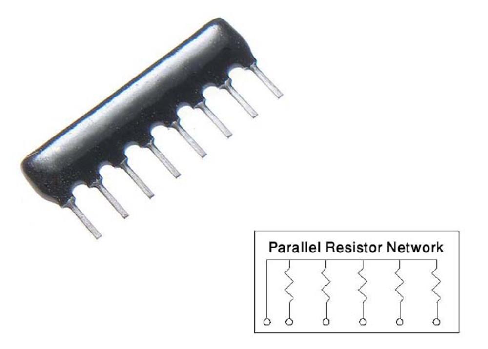 Resistor Network 2.2K 9P/P