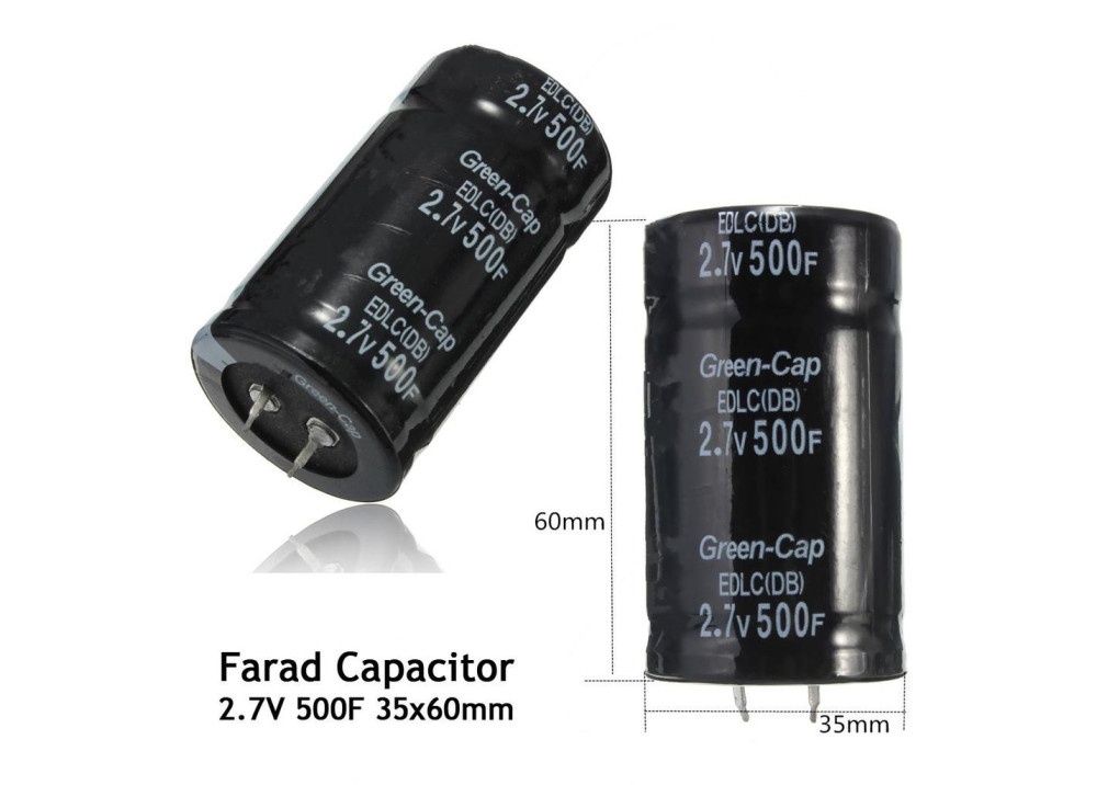 Electrolytic Capacitor 500F 2.7V Snap In