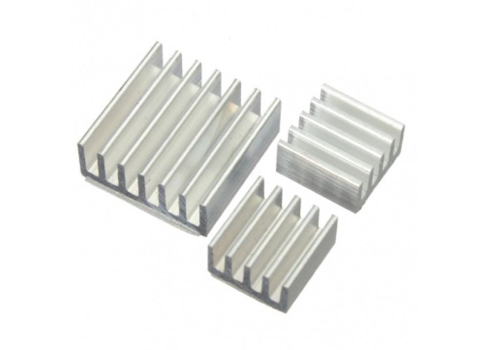 Heat Sink 3pcs Adhesive Aluminum For Raspberry Pi