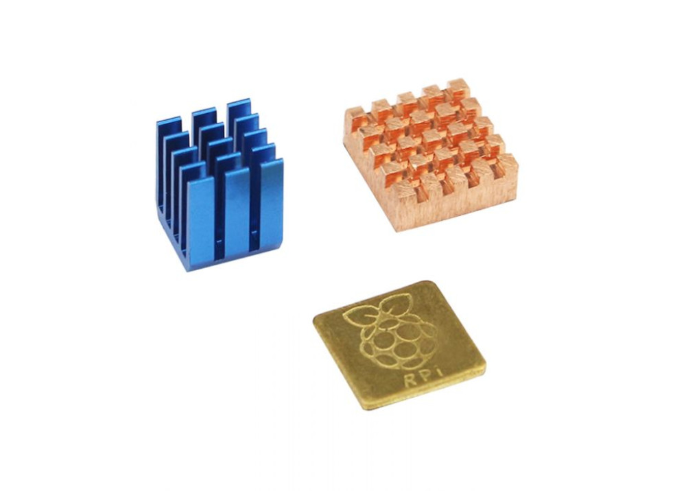 Heat Sink 3pcs Adhesive Copper For Raspberry Pi
