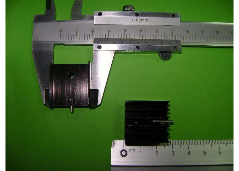 HEAT SINK 125x23x15mm TO264