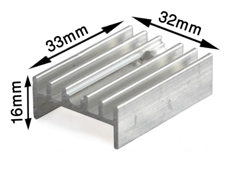 HEATSINK 33x32x16mm TO-220-15