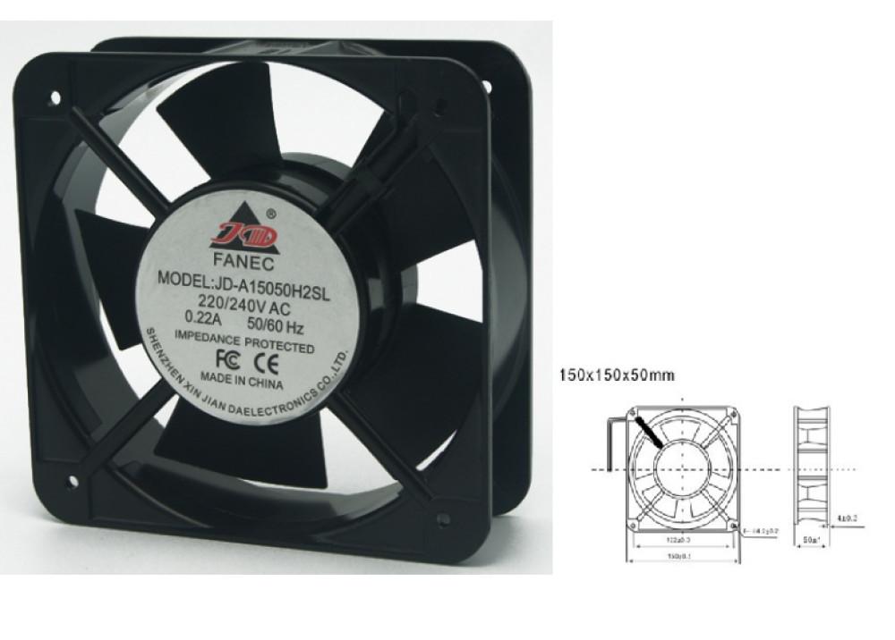 FAN JD-A15050H2SL 150x150X50mm 220V